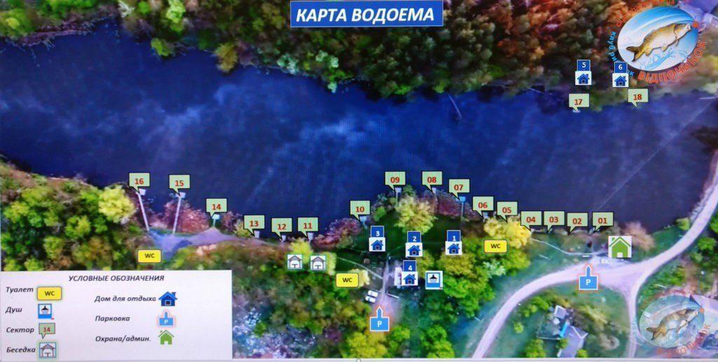 Karta vodoema Sosnovka